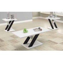 Contemporary White Three-piece Table Set