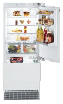 """30"""" Combined refrigerator-freezer with BioFresh and NoFrost for integrated use"""