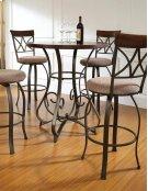 5-Pc. Hamilton Pub Table Set with 4 Swivel Bar Stools - (1) 697-404 + (4) 697-481 Product Image