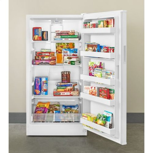 16 cu. ft. Upright Freezer with Energy-Saving Insulation - white