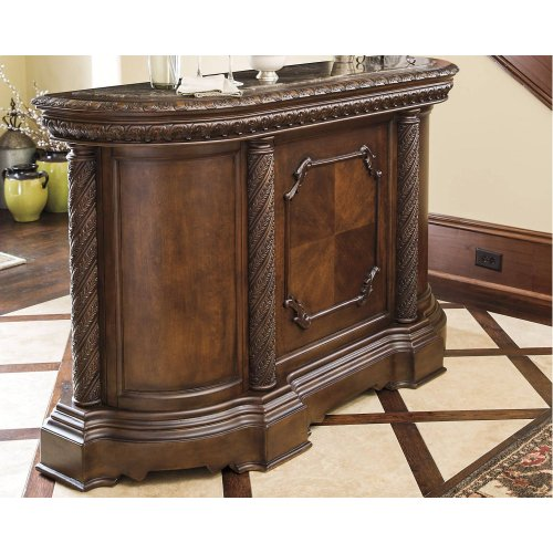 D55365 In By Ashley Furniture In Lake City Fl Bar With Marble Top