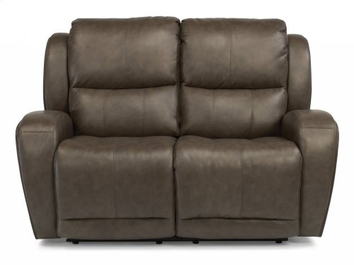 Chaz Leather Power Reclining Loveseat