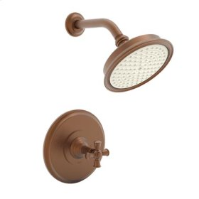 Antique Copper Balanced Pressure Shower Trim Set