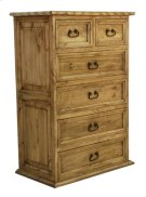 Pine 6 Drawer Chest W/ Rope Product Image