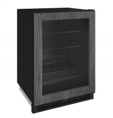"1000 Series 24"" Glass Door Refrigerator With Integrated Frame Finish and Field Reversible Door Swing"