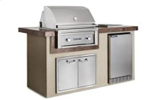 """Contemporary Gray 30"""" Island Package, LP"""