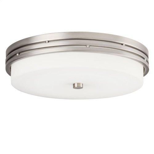 "Ceiling Space 14"" LED Flush Mount Brushed Nickel"