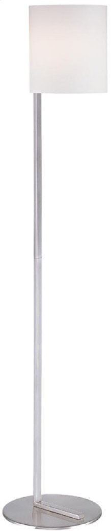 Floor Lamp, Ps W/frost Glass Shade, E27 Cfl 23w