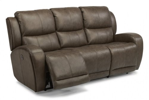 Chaz Leather Power Reclining Sofa