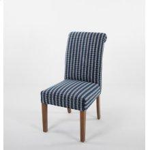 Roll top wood leg chair