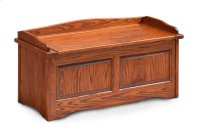 Raised Panel Storage Bench Product Image