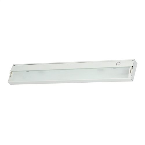 ZeeLite 3-Light Under-cabinet Light in White with Diffused Glass