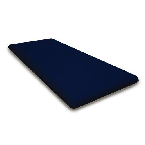 """Navy Seat Cushion - 43.5""""D x 18.5""""W x 2.5""""H"""