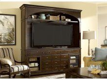 Entertainment Console with Hutch - River Bank