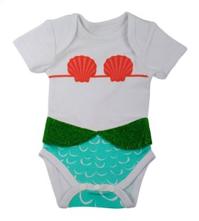 "6 pc. ppk. ""I'm Really a Mermaid"" 3D Diaper Shirts."