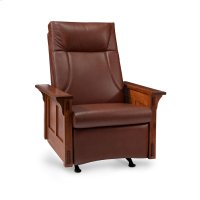 McCoy Rocker/Recliner, Leather Cushion Seat Product Image