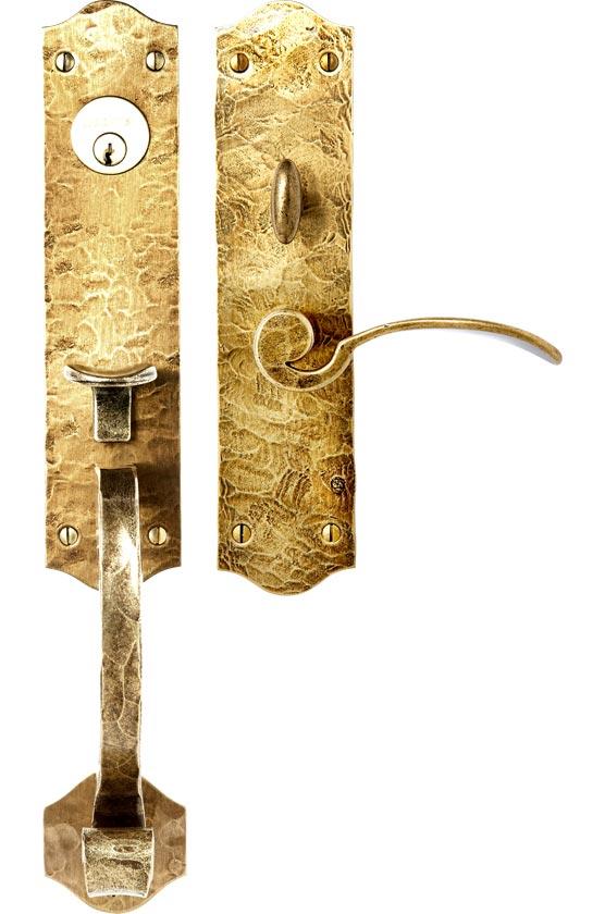 """2571 Entrance Handle Set - Complete single cylinder set for 2 1/4"""" door"""