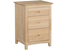 Unfinished Lancaster 3 Drawer Nightstand