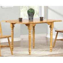 DLU-TLD3448-LO  Drop Leaf Dining Table  Light Oak Finish