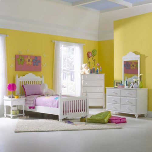 Lauren 5pc Twin Post Bedroom Suite