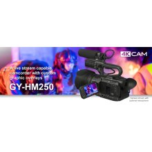 4KCAM COMPACT HANDHELD CAMCORDER w/INTEGRATED 12X LENS