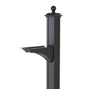 Balmoral Post & Bracket w/ ball finial - Black Product Image