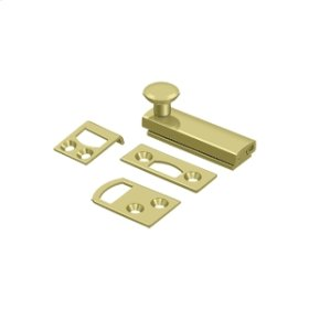 """2"""" Surface Bolt, Concealed Screw, HD - Polished Brass"""