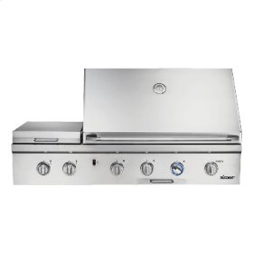 """Heritage 52"""" Outdoor Grill with Infrared Sear Burner, Stainless Steel, Natural Gas"""