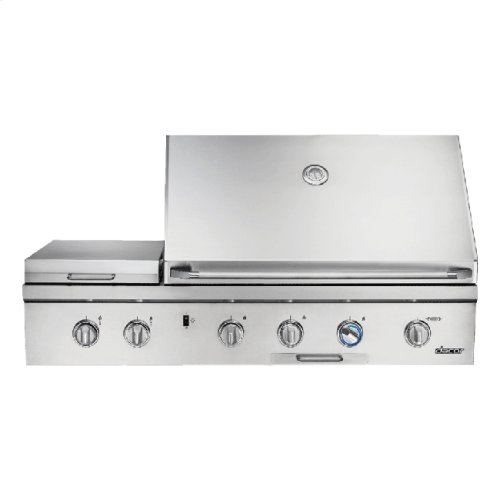 """Heritage 52"""" Outdoor Grill, Stainless Steel, Natural Gas"""