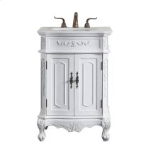 27 in. Single Bathroom Vanity set in antique white