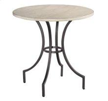 Homestead Primitive Round Iron Lamp Table