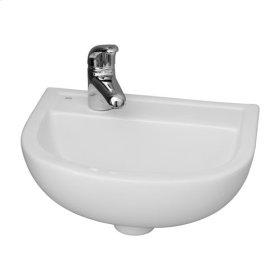Compact 380 Wall-Hung Basin - White