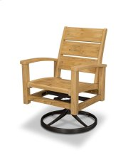 Natural Swivel Rocker Dining Chair Product Image