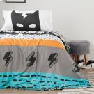 Superheroes Comforter and Pillowcases - Black and White Product Image
