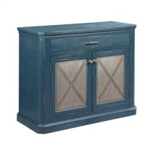 Hidden Treasures Metal Rivet Door Cabinet