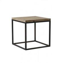 Side table 40x40x40 cm YARULA black+wood