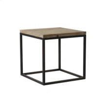 Side table 40x40x40 cm YARULA black+wood