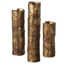 Antique Gold Branch Vase. (3 pc. set) Product Image