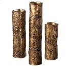 Antique Gold Branch Vase (3 pc. set) Product Image