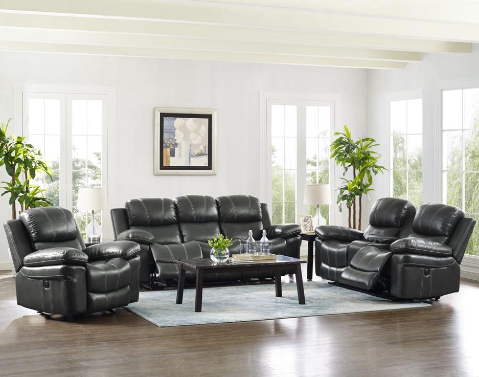 CADENCE Dual Recliner Sofa GRAY