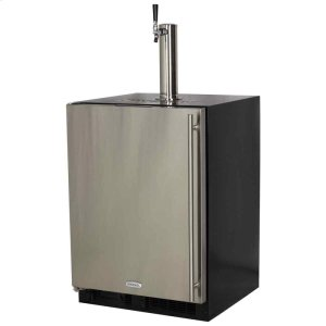 Marvel24-In Beverage Dispenser with Door Style - Stainless Steel, Door Swing - Left