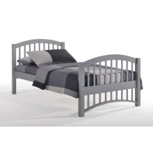 Molasses Bed in Gray Finish