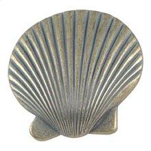 Clamshell Knob 2 Inch - Verdigris