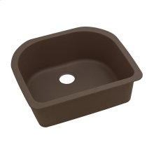 "Elkay Quartz Classic 25"" x 22"" x 8-1/2"", Single Bowl Undermount Sink, Mocha"