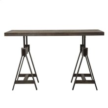 Adjustable Height Rectangular Table