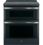 """GE Profile™ Series 30"""" Slide-In Electric Double Oven Convection Range Product Image"""