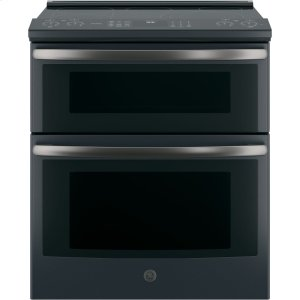 "GE ProfileSeries 30"" Slide-In Electric Double Oven Convection Range"