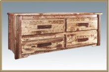 Homestead 4 Drawer Sitting Chest - Stained and Lacquered