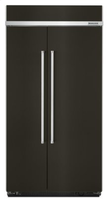 25.5 cu. ft 42-Inch Width Built-In Side by Side Refrigerator with PrintShield Finish - Black Stainless