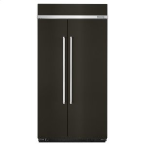 Kitchenaid Black25.5 cu. ft 42-Inch Width Built-In Side by Side Refrigerator with PrintShield Finish - Black Stainless